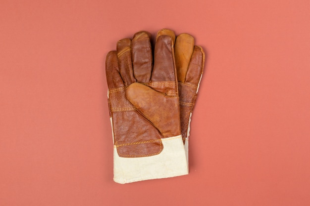 Construction safety gloves top view