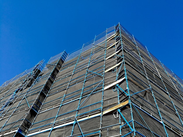 Construction scaffolding of high rise apartment