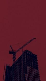 도시의 건설 현장 휴대폰 벽지