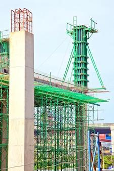 Under construction site, vertical