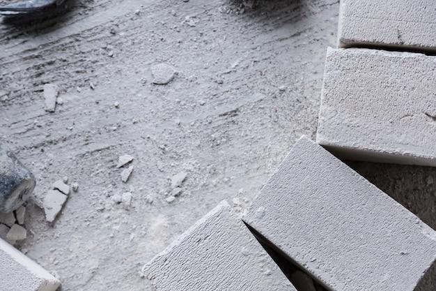 Строительный инструмент бетонный кирпичный блок с свободным пространством для копирования