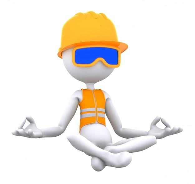 建設労働者の瞑想