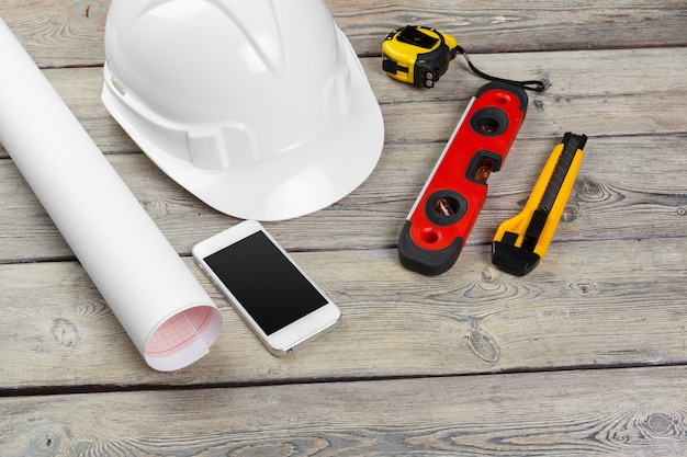 Construction  worker supplies and instruments