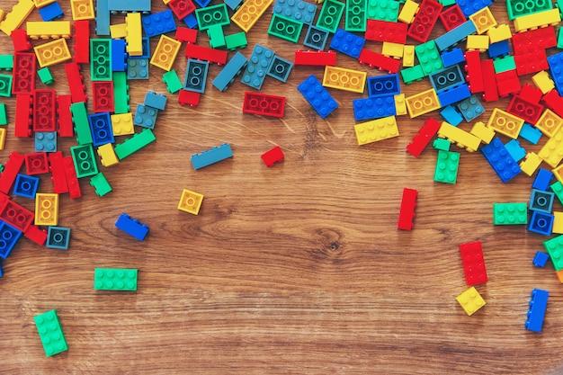 Constructor children's toy. selective focus.