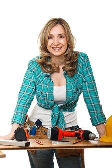 Женщина конструктор