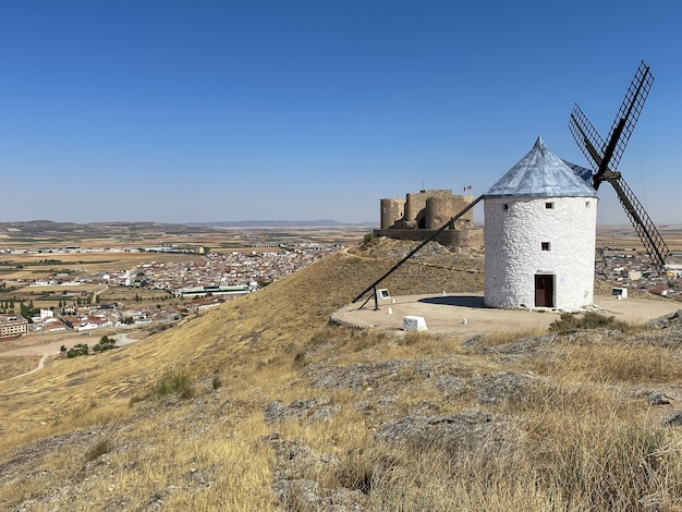 The consuegra mills are a group of mills located on the so-called calderico hill