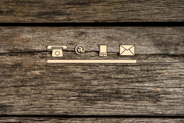 Contact and communication icons