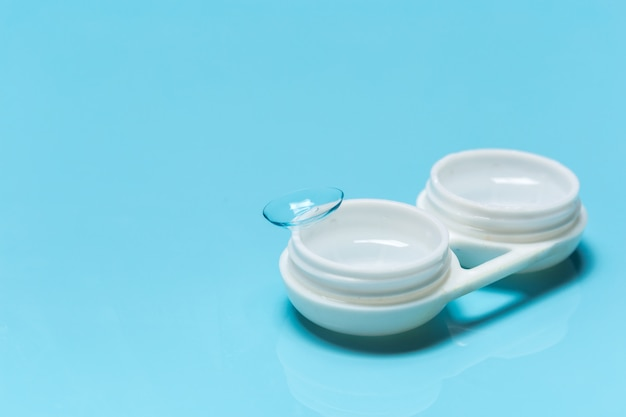 Contact lens, contact lens case, tweezers