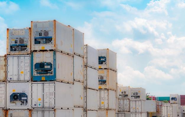 컨테이너 물류 냉동식품 출하용 냉동 수출물류용 냉동컨테이너