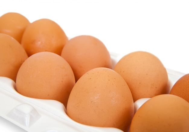 Container with eggs