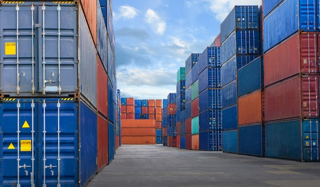 Container yard in the business of import-export