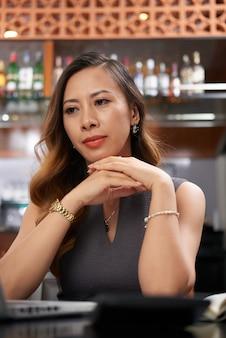 Contemplating restaurant owner