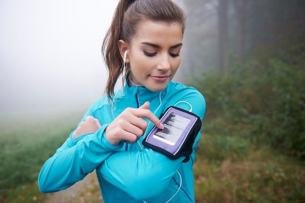 携帯電話のランナーのための現代的なアプリケーション