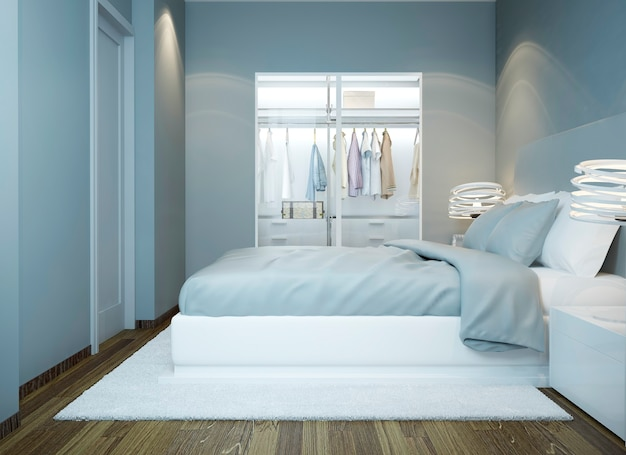 Contemporary bedroom minimalist design