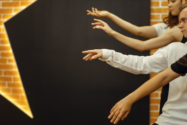 Contemporary dance performers hands