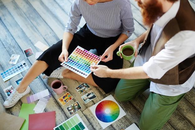 Contemporary designer team