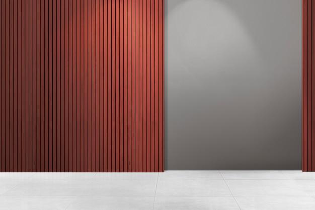 Design d'interni autentico della stanza vuota contemporanea