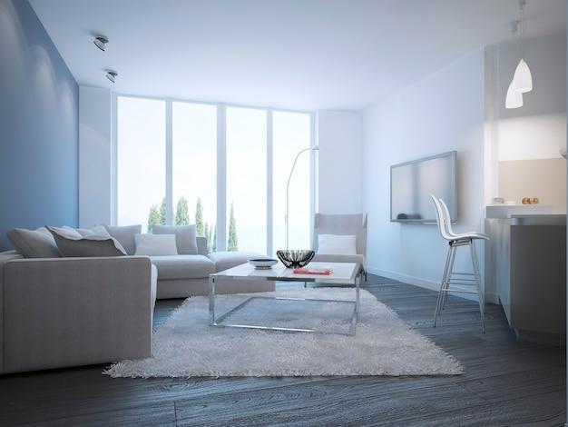 Contemporary living room studio design
