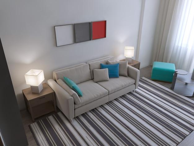 Contemporary living room trend.