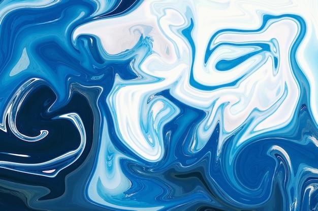 現代現代アート青と白の創造的な抽象的な手描きの背景極端なクローズアップ。 3dレンダリング