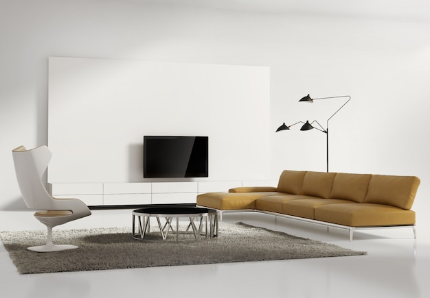 Contemporary modern wall system living room