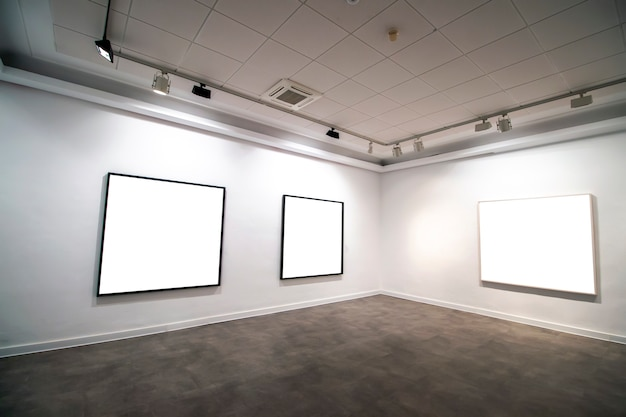 Contemporary museum gallery interior