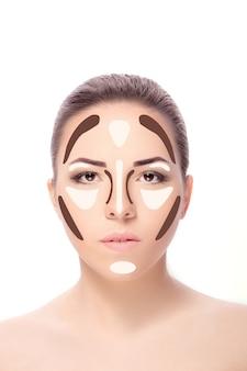 Contouringmake 여자 얼굴