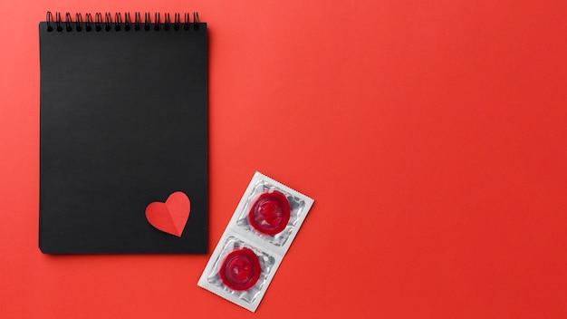 Contraception method arrangement with copy space