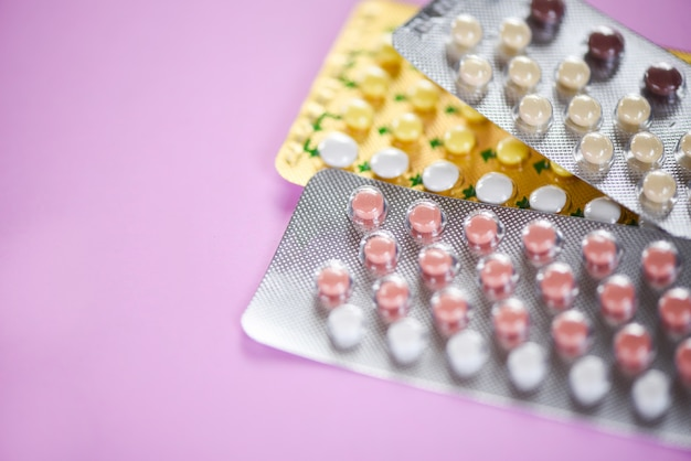 Contraceptive pill prevent pregnancy contraception concept birth control