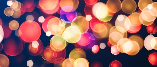Contrast and colorful bokeh texture