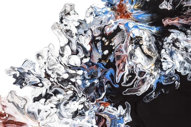Контрастное жидкое искусство абстрактный фон с фантастическим узором