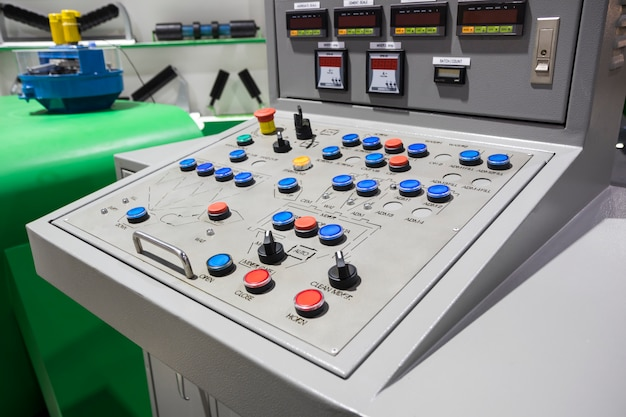 Control panel for concrete mixing plant