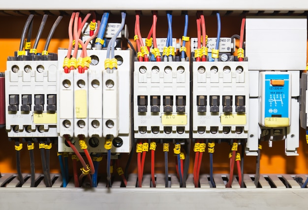 Control panel with circuit breakers