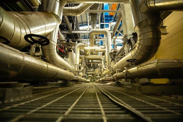 제어실 밸브 및 파이프라인 발전소