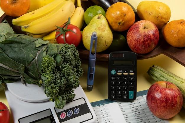 Контроль диабета - подсчет углеводов для лечения инсулином - идея, концепция и история диабета и здоровья