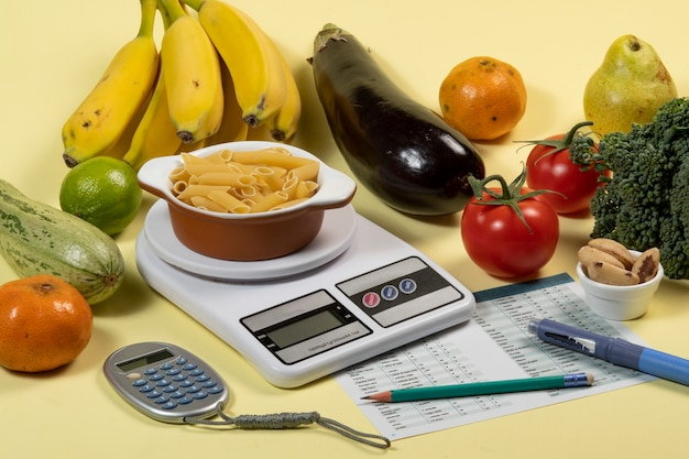 Controlling diabetes - carbohydrate counting for insulin treatment - idea, concept and history of diabetes and health