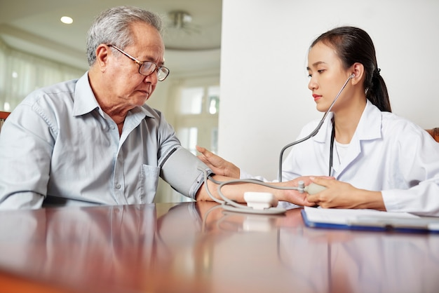 Controlling the health of senior patient