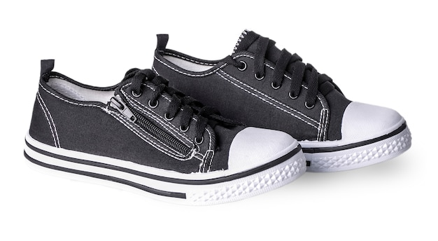 Convenient for sports men sneakers in dark thick fabric