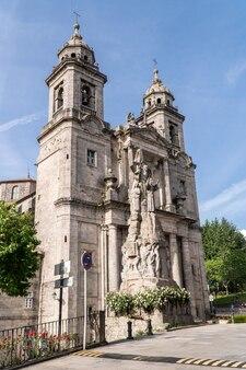 Convent and church facade of san francisco