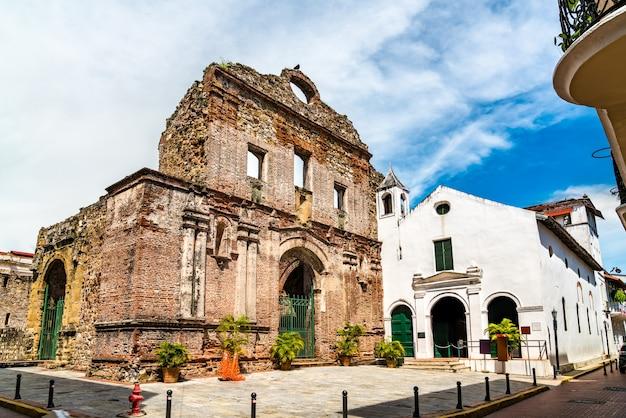 Монастырь санто-доминго в каско вьехо в старом городе панамы