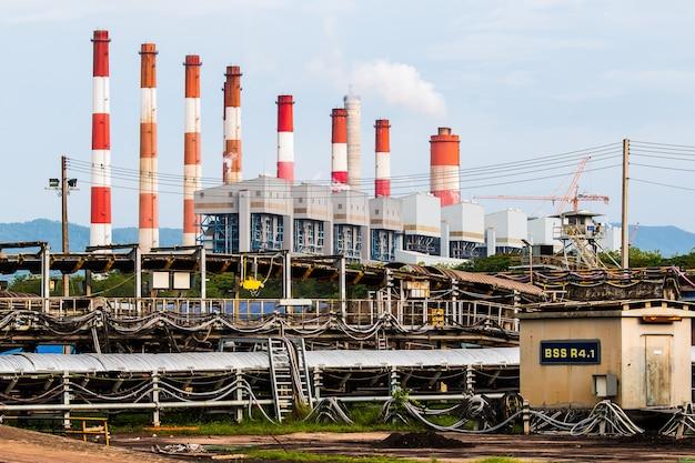 タイのコンベヤーと発電所