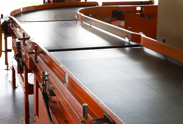 Conveyor belt in warehouse distribution.