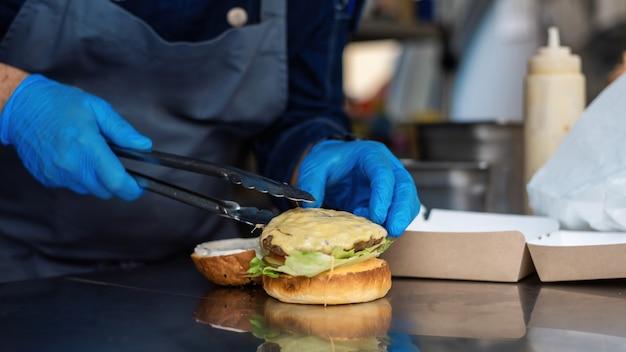 햄버거 만들기, 패티 추가, 푸드 트럭 요리