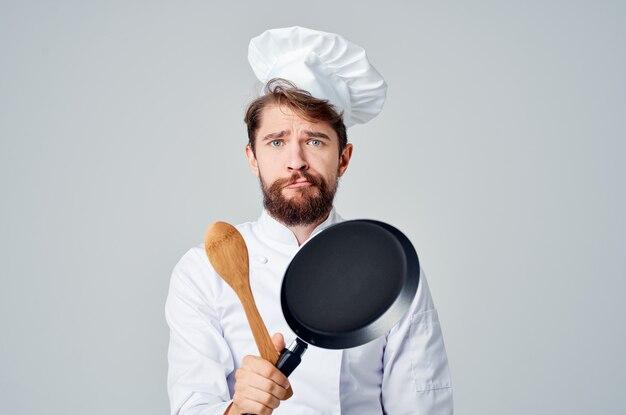 Готовить с посудой сковорода ресторан кулинария