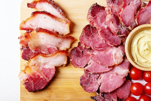 Cooked pork meat