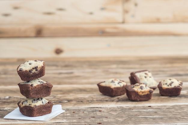 Cookie brownie of chocolate handmade