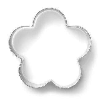 白い背景の上のクッキーカッター