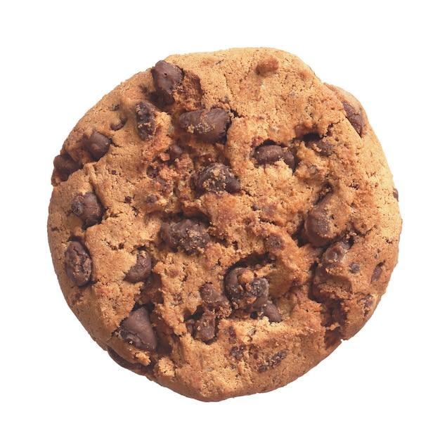 흰색 배경 근접 촬영에 고립 된 초콜릿 쿠키