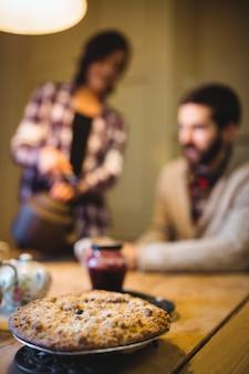 テーブルのcookieのクローズアップ