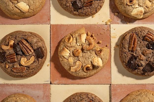 Cookies arrangement above view